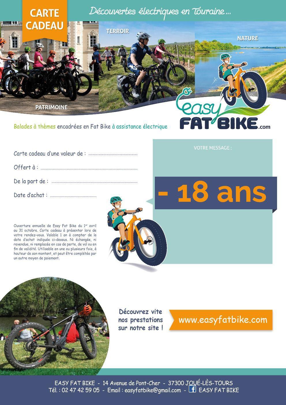 carte cadeau « circuit » – 18 ans | easy fat bike